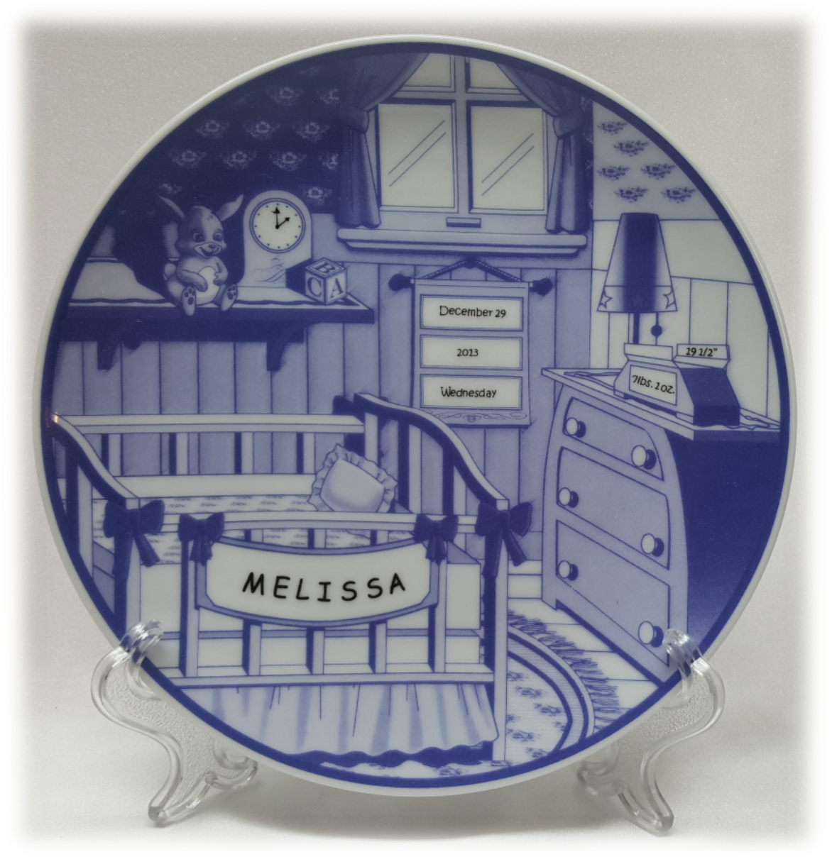 Personalized Porcelain Nursery Plate