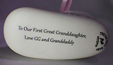 Inscription To Our First Great Granddaughter
