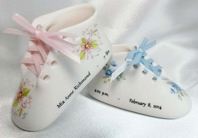 Porcelain Baby Shoe Keepsakes