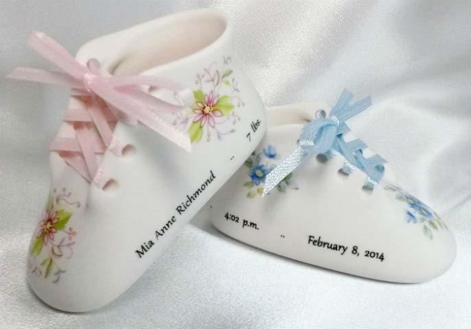 Porcelain Baby Shoe Keepsakes