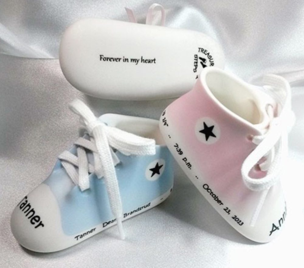 Baby Shoes Name Date Bottom